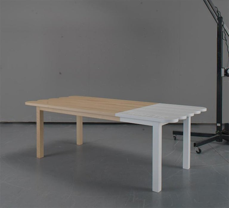 Contemporary Natural Wood Dining Table by Tiago Curioni For Sale