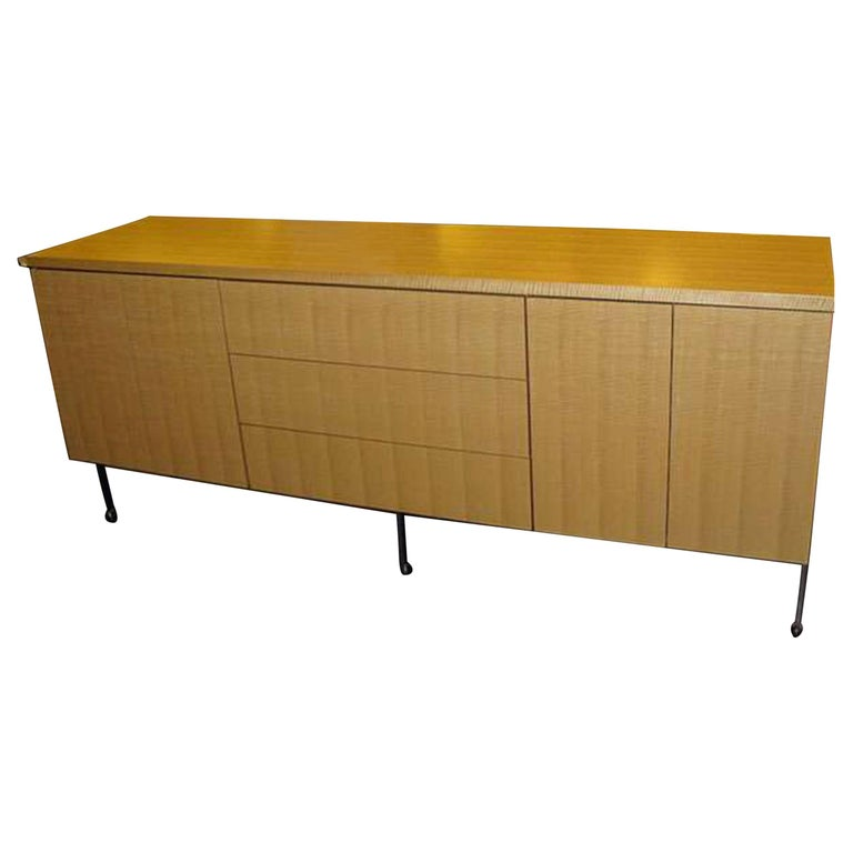Natural Wood Harvey Probber Buffet For Sale