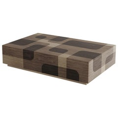 Natural Wood Rectangular Coffee Table Bodega Collection by Joel Escalona