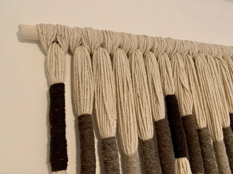 Natural Wool Mounted Wall Art For Sale 5