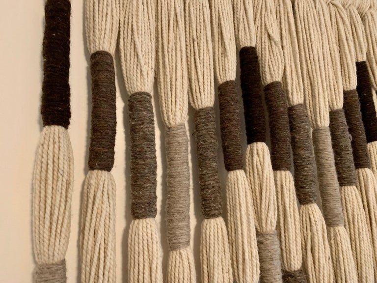 Natural Wool Mounted Wall Art For Sale 6