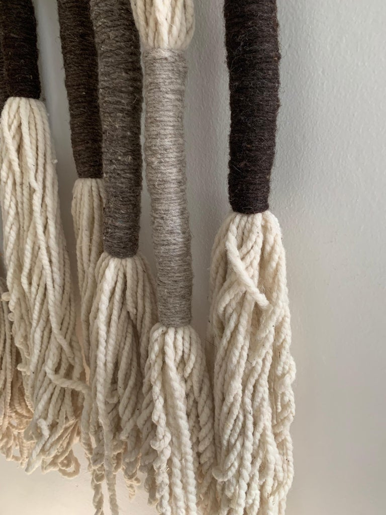 Mexican Natural Wool Mounted Wall Art For Sale