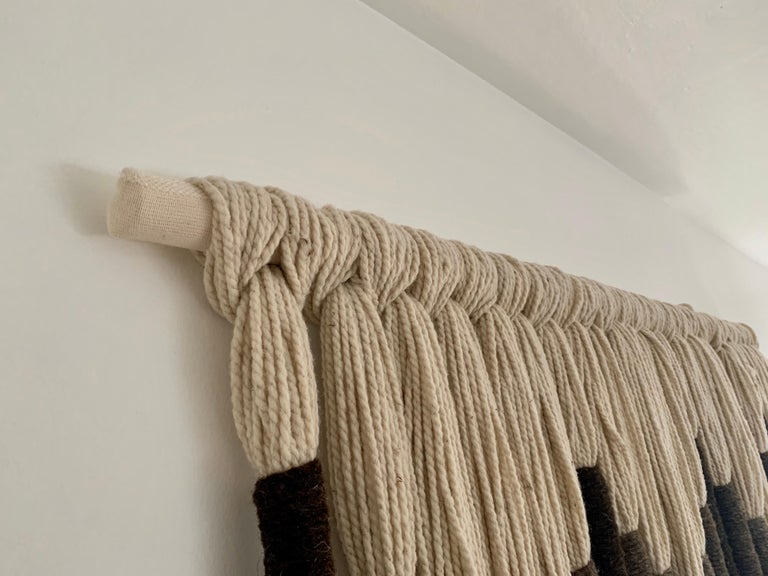 Natural Wool Mounted Wall Art In Excellent Condition For Sale In East Hampton, NY