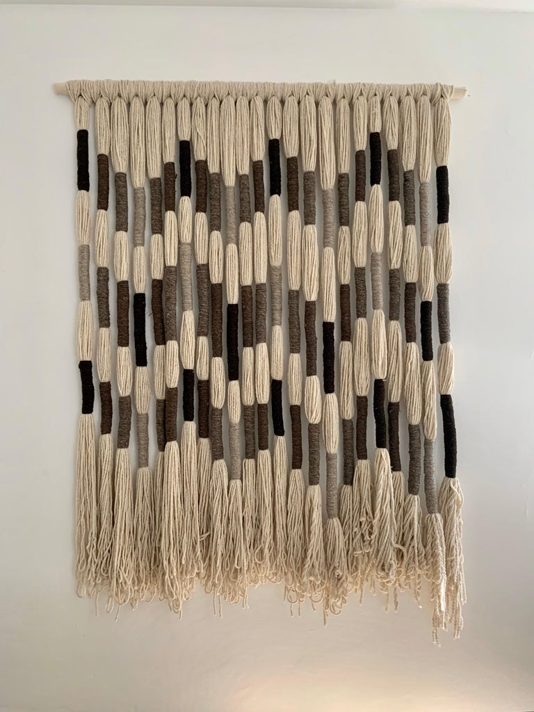Natural Wool Mounted Wall Art For Sale 2