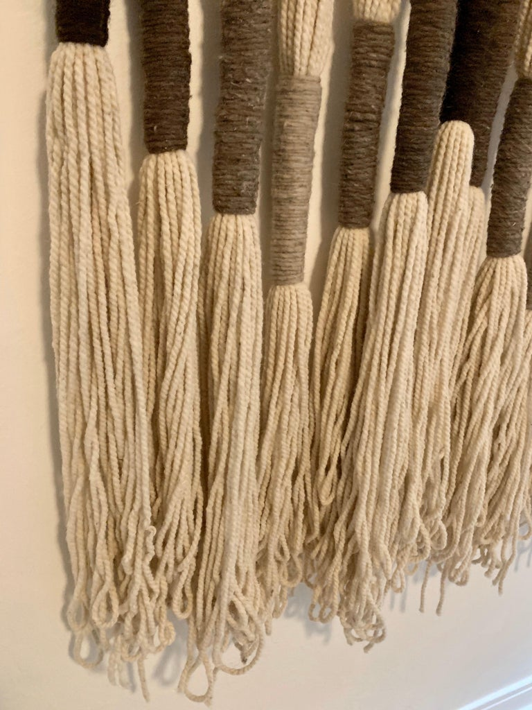 Natural Wool Mounted Wall Art For Sale 4
