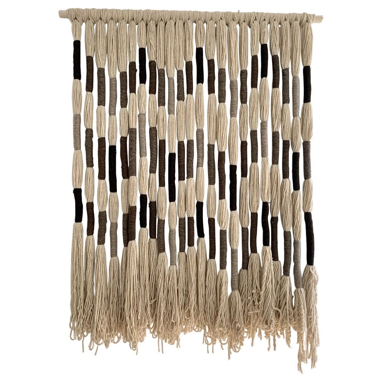 Natural Wool Mounted Wall Art For Sale