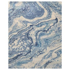 Natural World Ice Glaciers Inspired Material Rug