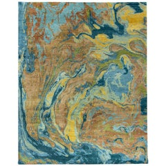 Natural World Lava Inspired Material Rug. Size: 10 ft x 14 ft