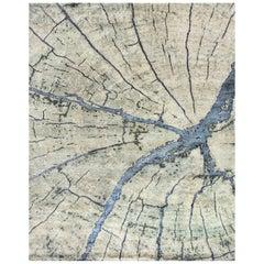 Natural World Tree Rings Inspired Material Rug