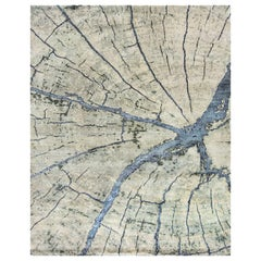 Natural World Tree Rings Inspired Material Rug. Size: 10 ft x 14 ft