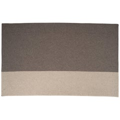 Natural Woven Wool 'Balance' Rug in Grey, Reversible, Custom Made in the USA