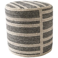Natural Woven Wool Ottoman Custom Made in the USA