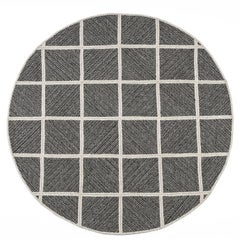 Natural Woven Wool Rug in Black, Custom Crafted in the USA, Reversible, Terrain