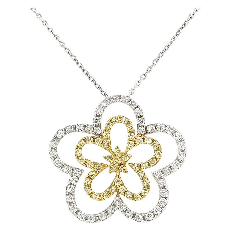 unique carved pearl rose 18k white gold plated chain and pendant X32