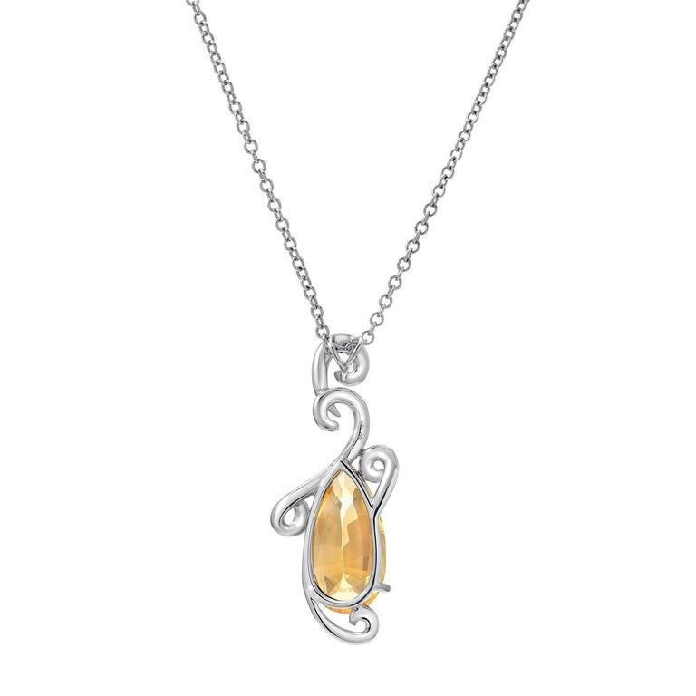 Modern Natural Yellow Sapphire Pendant 5.13 Carats GRS Certified Ceylon Unheated For Sale