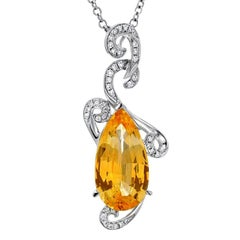 Natural Yellow Sapphire Pendant 5.13 Carats GRS Certified Ceylon Unheated