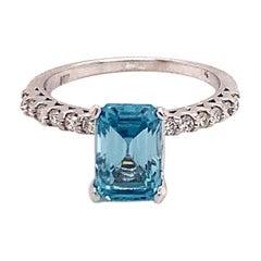 Natural Zircon Diamond Ring 14k Gold 6 TCW Certified