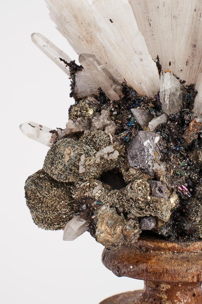 Crystal Naturalia Mineral Specimen, Italy, circa 1870 Splendid Wunderkammer Rarity For Sale