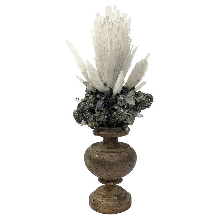 Naturalia Mineral Specimen, Italy, circa 1870 Splendid Wunderkammer Rarity For Sale
