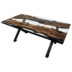 Primitive 200 Epoxy Resin Dining Tables with X Legs
