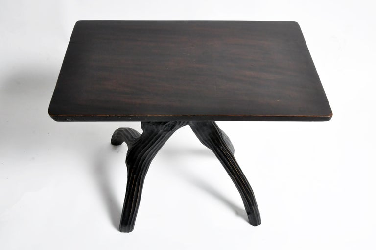 Walnut Naturalistic Game Table For Sale