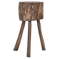 Naturally Bleached Butcher Block Side Table