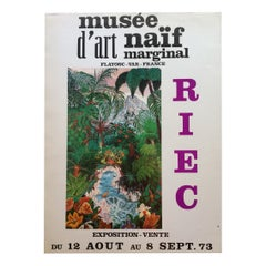 1970s Landscape Art Exhibition Poster from Musee d'Art Naif Marginal