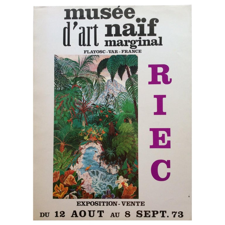 Nature Depicted 1970s Vintage Riec Art Exhibition Poster For Sale