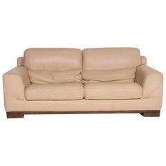 Natuzzi 2085 Leather Sofa Beige Two-Seat