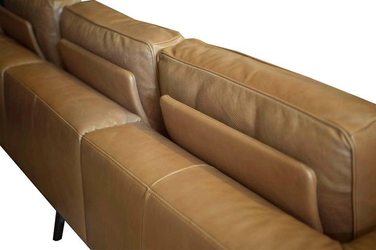 Natuzzi Italia High Grade Leather Gio Couch Circa 2017