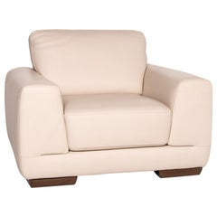 Natuzzi Leather Armchair Cream