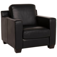 Natuzzi Leather Armchair Dark Brown