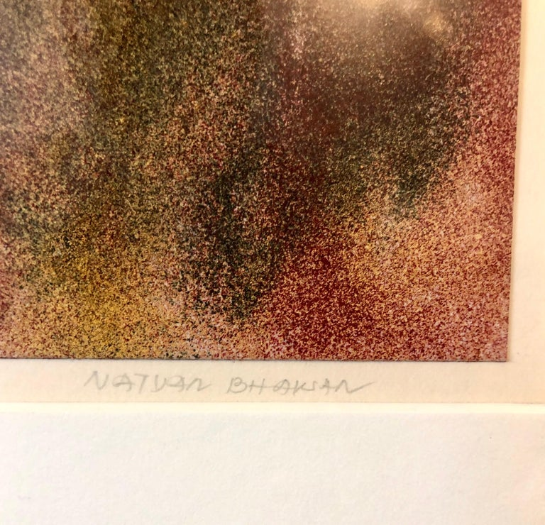 1971 New York Indian Abstract Expressionist Color Field Painting Natvar Bhavsar For Sale 1