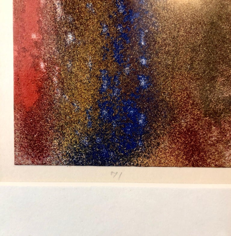 1971 New York Indian Abstract Expressionist Color Field Painting Natvar Bhavsar For Sale 2
