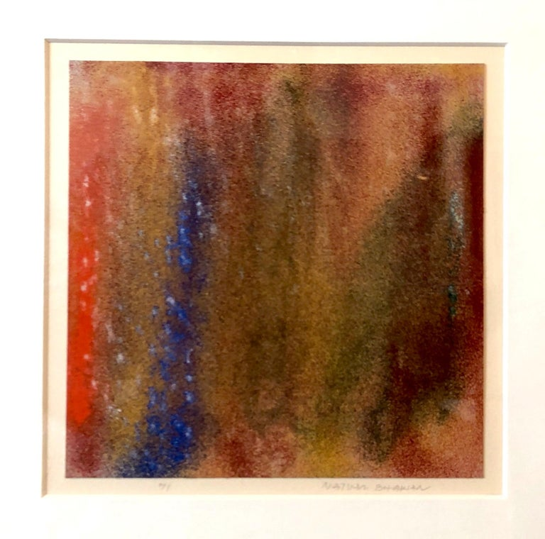 1971 New York Indian Abstract Expressionist Color Field Painting Natvar Bhavsar For Sale 3