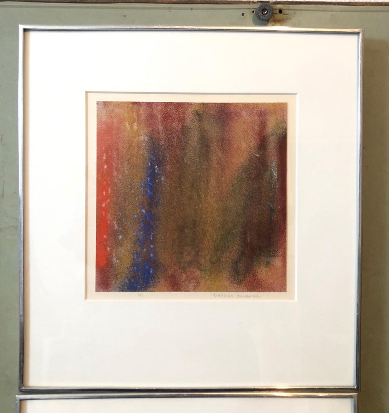 1971 New York Indian Abstract Expressionist Color Field Painting Natvar Bhavsar For Sale 4