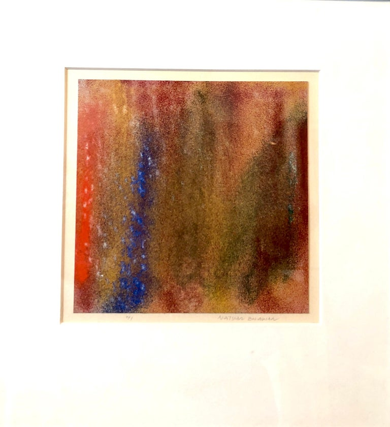1971 New York Indian Abstract Expressionist Color Field Painting Natvar Bhavsar For Sale 5