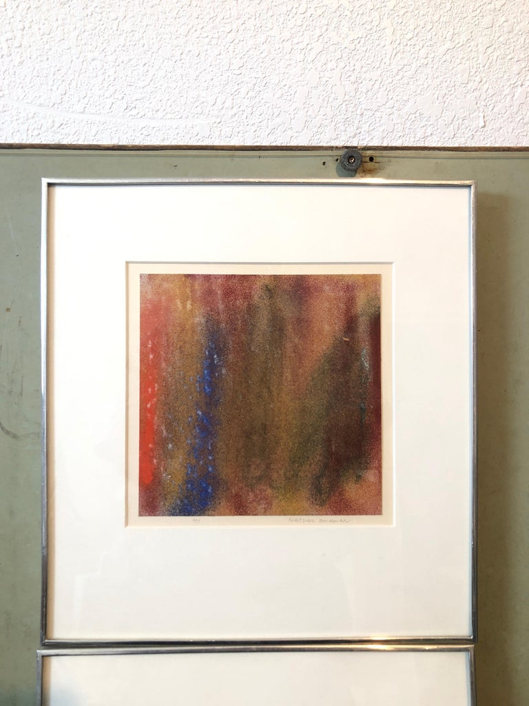 1971 New York Indian Abstract Expressionist Color Field Painting Natvar Bhavsar For Sale 6