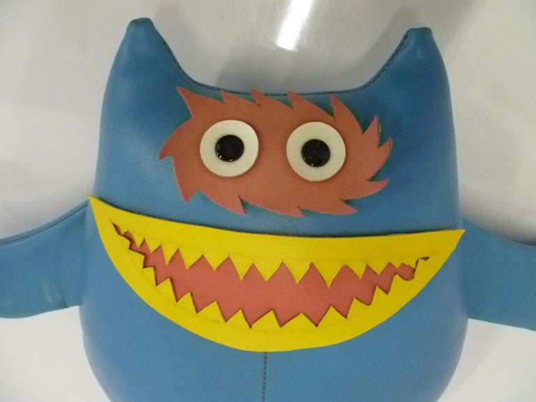 Naugahyde Cute Nauga Monster Doll 1960s Adv. Promotion for Uniroyal Pleather For Sale 5