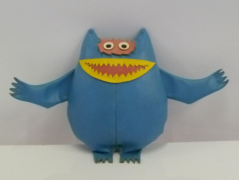 Naugahyde Cute Nauga Monster Doll 1960s Adv. Promotion for Uniroyal Pleather In Good Condition For Sale In Miami, FL