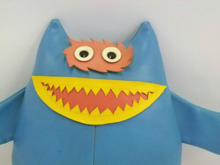 Mid-20th Century Naugahyde Cute Nauga Monster Doll 1960s Adv. Promotion for Uniroyal Pleather For Sale