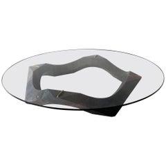 Naui Center Table by Pedro Cerisola in Lava Stone
