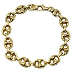 Nautical Anchor Link Bracelet 18 Karat Yellow Gold