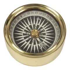 Nautical Brass Compass Made in the Mid-19th Century