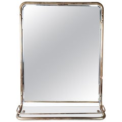 Nautical Brass Mirror from a Ship's Stateroom, circa 1960s