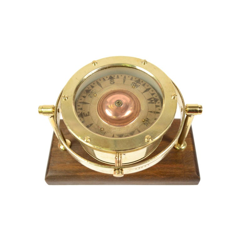 Nautical Compass signed Sestrel, UK, 1876 For Sale