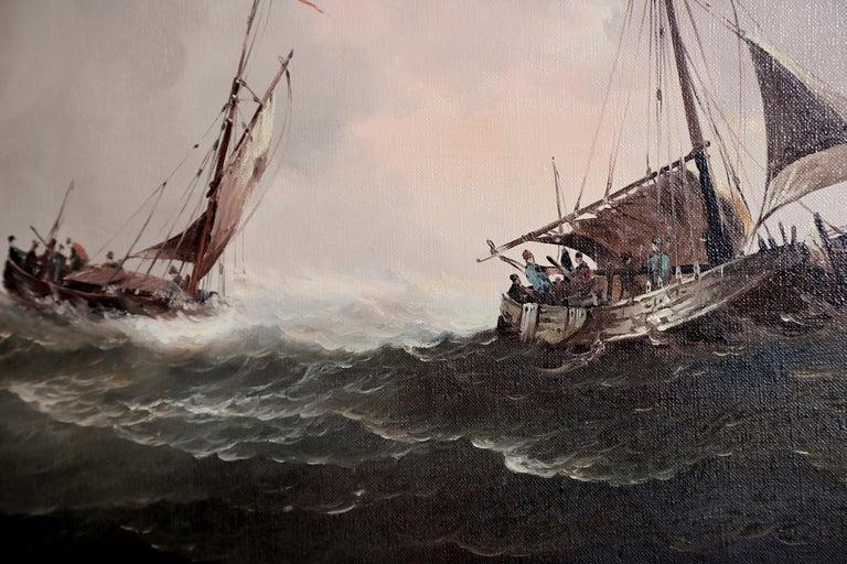 Nautical / Maritime Painting by Jan Hendrik Jacob Jasper For Sale 2