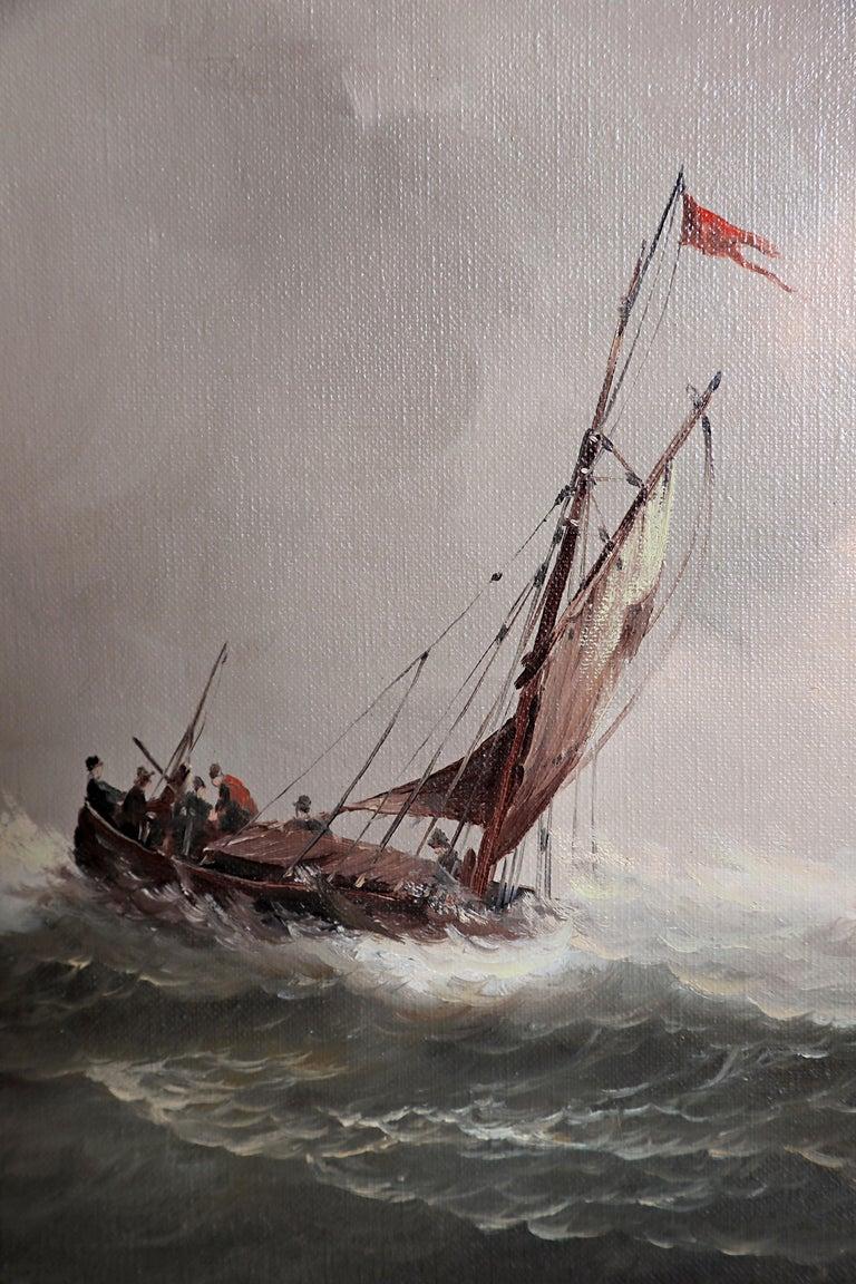 Nautical / Maritime Painting by Jan Hendrik Jacob Jasper For Sale 5