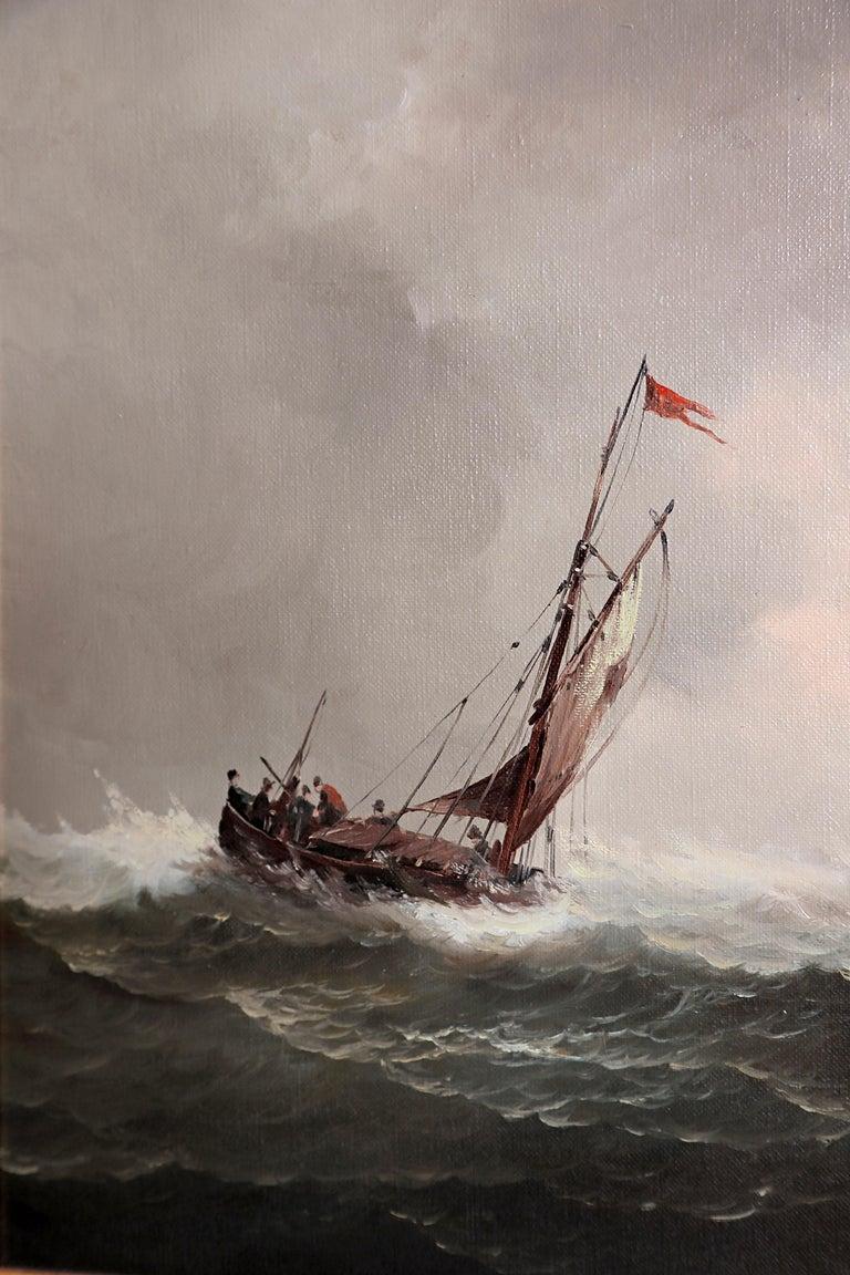 Nautical / Maritime Painting by Jan Hendrik Jacob Jasper For Sale 6