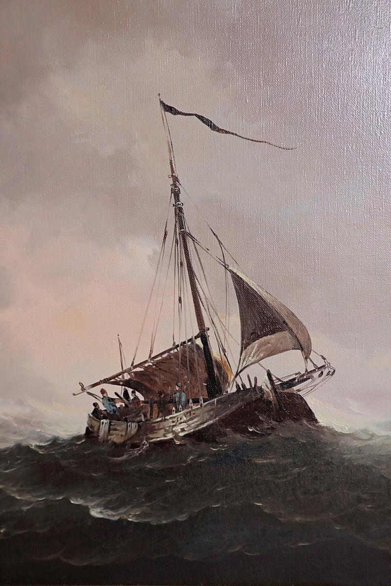 Nautical / Maritime Painting by Jan Hendrik Jacob Jasper For Sale 7